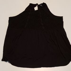 Torrid Black Baby doll Halter Top Size 1